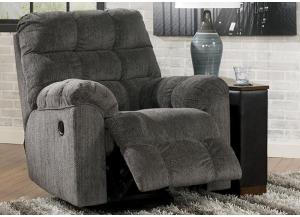 LR14 Grey Swivel Recliner