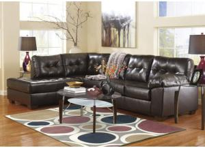 LR48 Chocolate 2-Piece Leatherblend Sectional