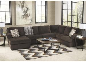 LR65 Chocolate 3-Piece Sectional from the Schooner Collection