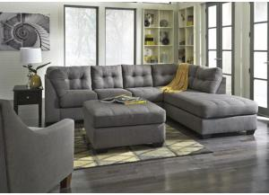 LR71 Charcoal Tufted 2-Piece Sectional