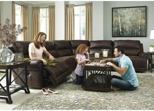 Espresso 6-Piece Sectional from the Langdon Place Collection