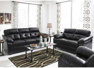 LR27 Midnight Contemporary Leatherblend Sofa