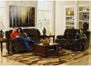 LR12 Chocolate Plush Reclining Sofa