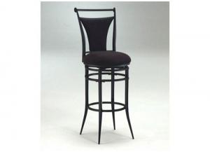 MS30-90 - Swivel Bar Stool With Black Faux Suede