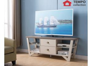 Tv Stand, Dark Taupe and Ivory
