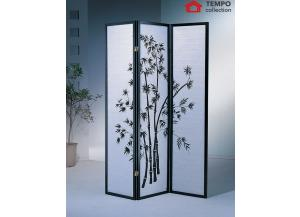 Image for 3 Panel Room Divider Print, Black
