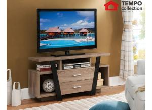 TV Stand, Black and Dark Taupe
