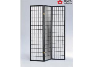 Image for 3 Panel Room Divider, Black