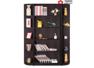 Corner Book Case, Red Cocoa