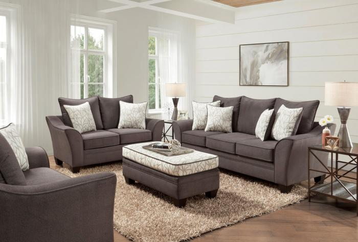 CLAYTON SEAL SOFA AND LOVESEAT ,BEHOLD HOME