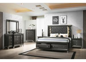Manhattan Queen Bed, Dresser, Mirror and Nightstand
