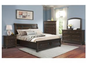 Kingston Queen Storage Bed, Dresser, Mirror and Nstand