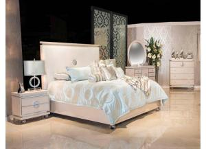 Glimmering Heights King Bed, Dresser, Mirror and 2 Qty Nstand