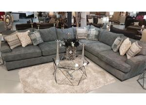 Oversized Gray/Blue Sectional