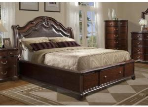 QUEEN SIZE TABASCO STORAGE BED
