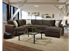 TWO TONE BROWN SECTIONAL