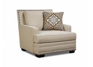 Image for LINEN OVERSIZED CHAIR