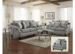 BAY RIDGE GRAY SOFA AND LOVESEAT