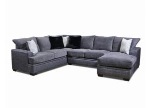 TWO TONE GRAPHITE (GRAY) SECTIONAL