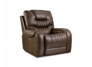 Image for BROWN GLIDING NAILHEAD RECLINER
