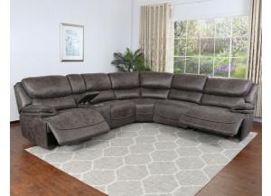 Plaza Power Reclining Sectional with usb