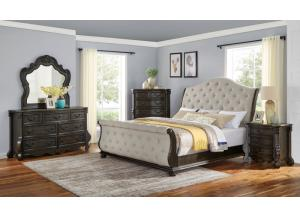 Rhapsody King Bed, Dresser, Mirror and Nstand