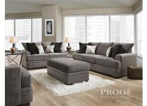 Image for TWO TONE GRAPHITE SOFA AND LOVESEAT