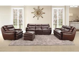 CAMBRIA LEATHER SOFA AND LOVESEAT