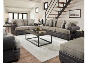 MARCO KHAKI GRAY SOFA AND LOVESEAT
