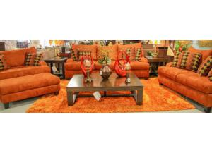 Image for Copper Sofa and Loveseat set