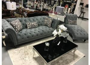 TWAIN SLATE SOFA AND LOVE SEAT