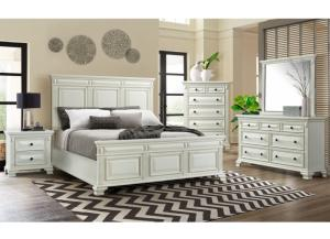 Calloway Queen Bed, Dresser, Mirror and Nstand