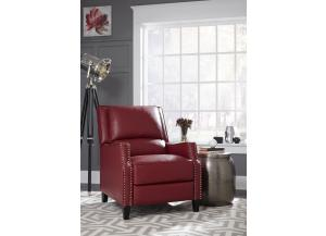 ALSTON RED PUSHBACK RECLINER