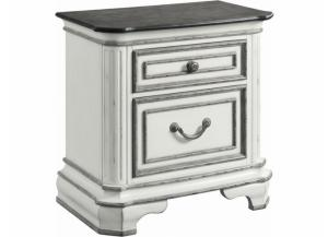 LEIGHTON MANOR ANTIQUE WHITE NIGHTSTAND