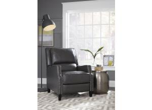 ALSTON CHARCOAL PUSHBACK RECLINER