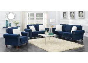 ASCOT BLUE SOFA AND LOVESEAT