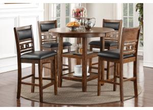 GIA BROWN COUNTER TABLE AND 4 CHAIRS