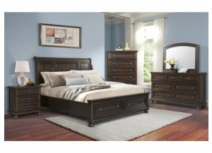 Kingston King Storage Bed, Dresser, Mirror and Nstand