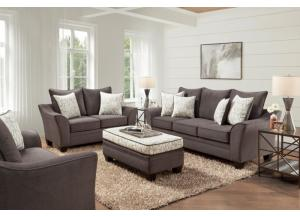 CLAYTON SEAL SOFA, LOVESEAT, CHAIR AND OTTOMAN