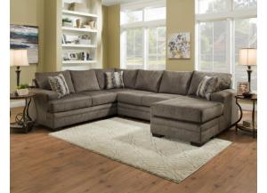 REVERSABLE GRAY SECTIONAL