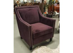 ERICA PURPLE ACCENT CHAIR