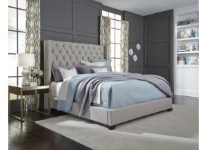 WESTERLY KING GREY BED