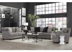 Image for TONIE GRAY NAILHEAD SOFA AND LOVESEAT