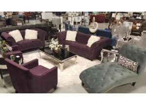 TWAIN PURPLE SOFA AND LOVESEAT