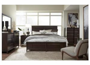 MODERN GEOMETRY PLATFORM KING BED, NIGHSTAND, DRESSER, MIRROR