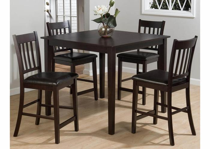 Marin County 5pc set by Jofran includes pub table & 4 stools ,Old Brick