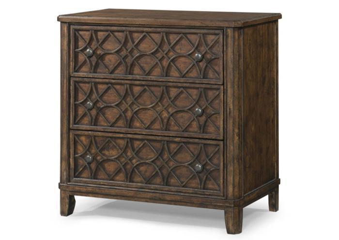 Trisha Yearwood 3 Drawer Accent Chest by Klaussner,Old Brick
