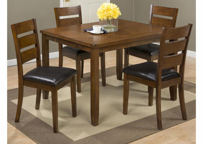 591 Plantation 5 Pc Set includes Dining Table & 4 Chairs,Old Brick
