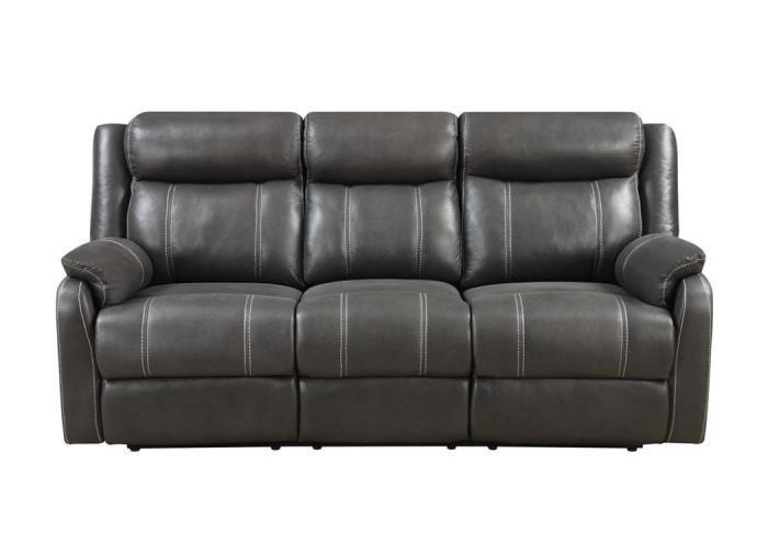 Domino Reclining Sofa w/Drop Down Table by Klaussner,Old Brick