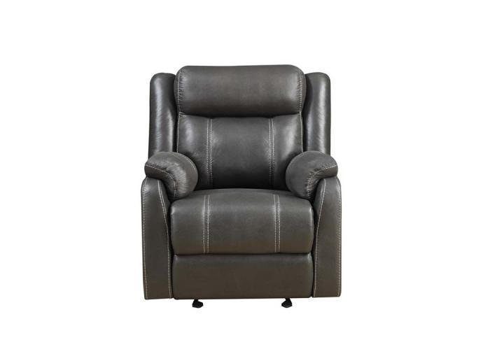Domino Gliding Recliner by Klaussner,Old Brick